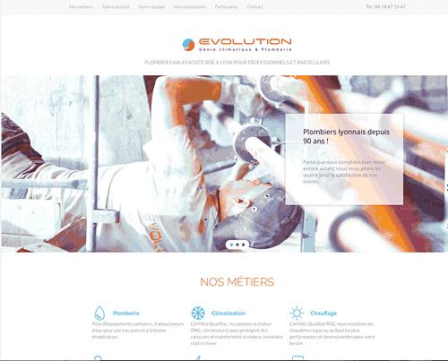 Page d'accueil du site CVC évolution