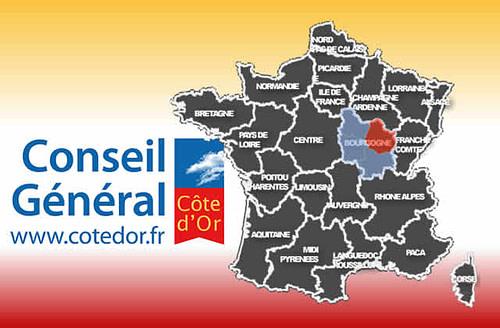 carte Conseil général de la Côte d'Or