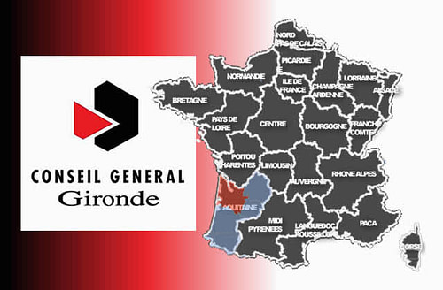 carte Conseil général de la Gironde